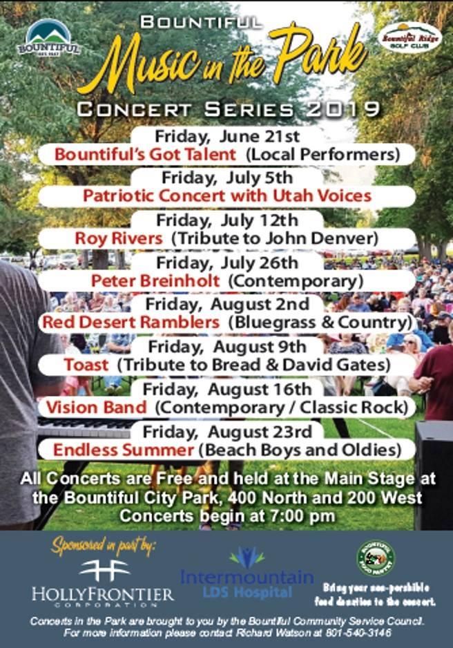 Community calendar for the week of July 5, 2019 - Deseret News